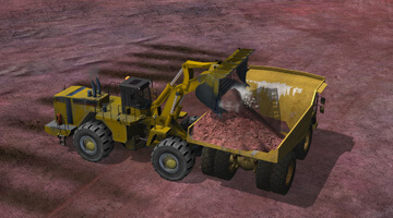 CAT-992G-Wheel-loader-simulator-loading-truck