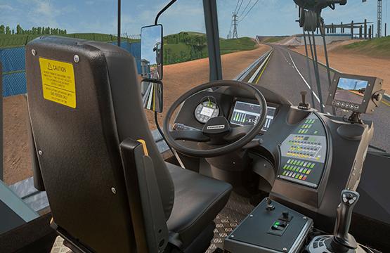 CYBERQUIP Mobile Crane Simulator - Driving Cabin