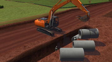 Digger-Simulator-Pipe-Laying