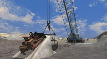 Dragline-simulator-repairs
