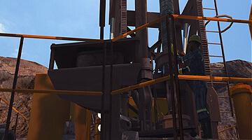 Drill-Rig-P&H-320-Simulator-Bit-Installation