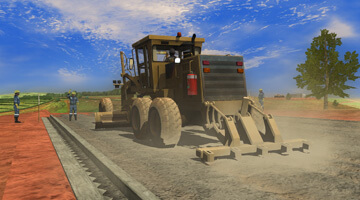 Grader-Simulator-Road-Preparation