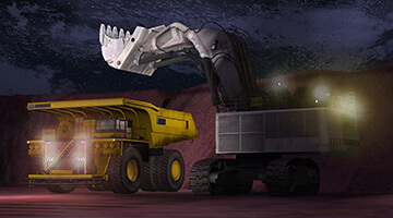 Shovel-simulator-night-loading