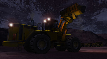 Wheel-Loader-Simulator-Night