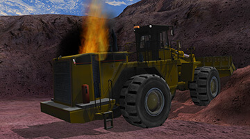 Wheel-loader-simulator-emergency-situation